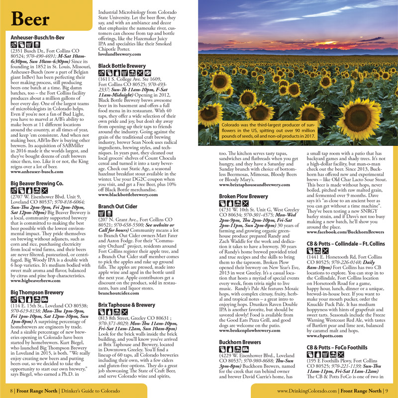 Drinker\'s Guide to Colorado Guide Book